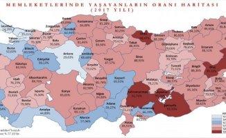 Türkiye nüfusunun yarısından fazlası memleketinde yaşıyor