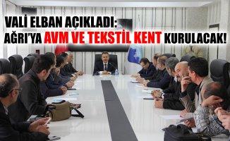 Vali Süleyman Elban Ağrı'da Yapılacak Projeleri Anlattı