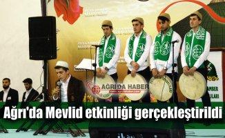 Ağrı'da Peygamber Sevdalıları Platformu Mevlid etkinliği düzenledi