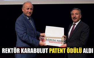 Ağrı İbrahim Çeçen Üniversitesi Rektörü Abdulhalik Karabulut Patent Ödülü Aldı
