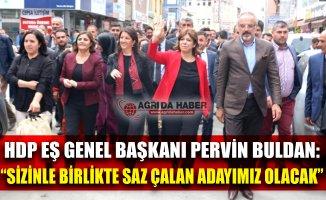 HDP Eş Genel Başkanı Pervin Buldan Ağrı'da Halka Seslendi