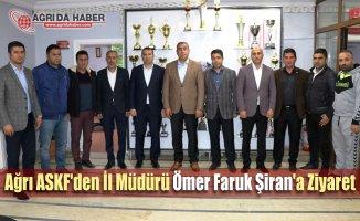 Ağrı ASKF'den İl Müdürü Ömer Faruk Şiran'a Ziyaret