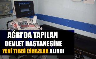 Ağrı Suçatağı Devlet Hastanesi'ne Yeni Tıbbi Cihazlar Alındı