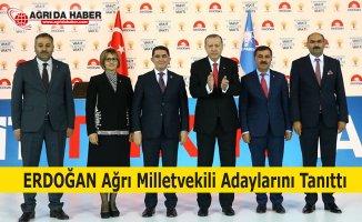 Ak Parti Ağrı milletvekili Adaylarını Cumhurbaşkanı Erdoğan Tanıttı