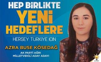 Azra Buse KÖSEDAĞ Ak Parti Ağrı Milletvekilliği Aday Adaylığını Açıkladı!