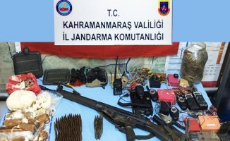 Kahramanmaraş'ta silah ve mühimmat ele geçirildi