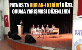 Patnos'ta Kur'an-ı Kerim'i Güzel Okuma Yarışması Düzenlendi
