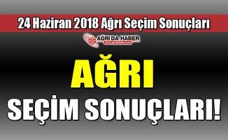 Ağrı 24 Haziran 2018 Seçim Sonuçları Açıklandı