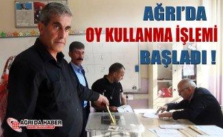 Ağrı'da 24 Haziran seçimi oy kullanımı başladı
