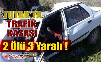 Ağrı'nın Tutak ilçesinde Trafik Kazası 2 Ölü 3 Yaralı