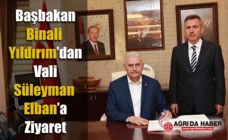Başbakan Binali Yıldırım Ağrı Valisi Süleyman Elbanı Makamında Ziyaret Etti