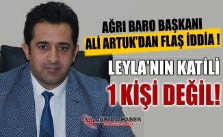 Ağrı Baro Başkanı Ali Artuk, Leyla Aydemir'in katili 1 kişi değil!
