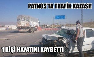 Ağrı Patnos'ta Trafik Kazası! 1 Kişi Hayatını Kaybetti