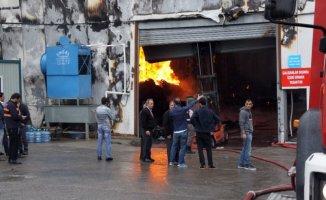 Osmaniye'de Fabrika'da Yangın