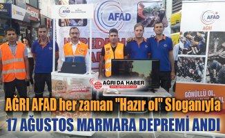 Ağrı AFAD 17 Ağustos 1999 Marmara Depremini Etkinliği
