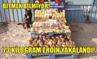 Ağrı'da Durdurulan TIR'da 73.47 Kg Eroin Yakalandı!