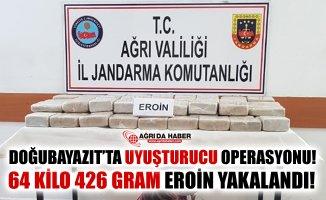 Ağrı'da Uyuşturucu Operasyonu! 64 Kilo Eroin Ele Geçirildi