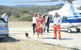 Ali Ağaoğlu Annesini Görmeye Helikopterle Geldi