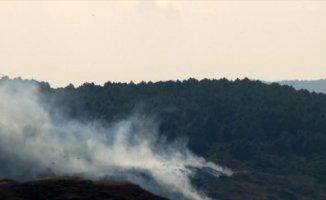 Askeri Alan'da Yangın Çıktı