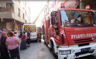 İstanbul'da 5 Katlı Binada Yangın