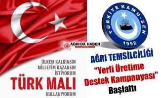 """Türkiye Kamu-Sen Ağrı Şubesi'nden """"Yerli Üretime Destek Kampanyası"""""""