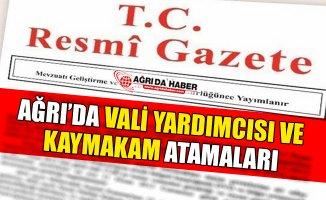 Ağrı'da Kaymakam ve Vali Yardımcıları Atamaları Resmi Gazetede Yayınlandı