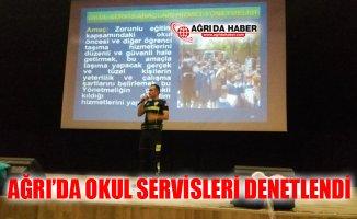 Ağrı'da Okul Servisleri Denetlenerek Konferans Verildi