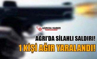 Ağrı'da Silahlı Saldırı! 1 Kişi Ağır Yaralandı!