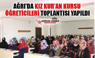 Ağrı İl Müftülüğü Kız Kur'an Kursu Öğreticileri Toplantısı