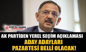 AK Partiden Yerel Seçimler İçin Açıklama! Aday Adayları Belli Oluyor