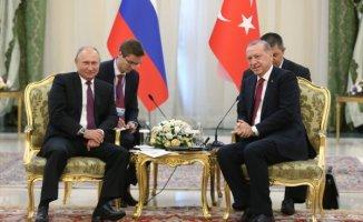 Cumhurbaşkanı Erdoğan ve Rus Lideri Putin Tahranda Buluştu