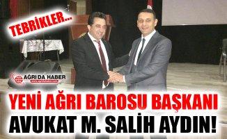 Ağrı Barosu Yeni Başkanı Mehmet Salih Aydın Oldu