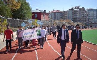Ağrı'da Dünya Yürüyüş Günü Etkinliği