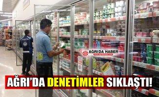 Ağrı'da Zabıta Ekipleri Marketleri Denetledi
