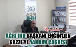 Ağrı İHH Dernek Başkanı Kerem Engin'den Gazze'ye Yardım Çağrısı