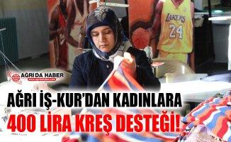Ağrı İŞKUR'dan Çalışan Kadınlara 400 Lira Kreş Desteği