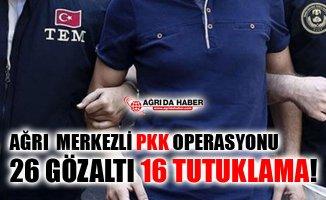 Ağrı Merkezli PKK/KCK Operasyonu! 16 Kişi Tutuklandı!