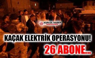 Ağrı Patnos'ta Kaçak Elektrik Operasyonu!