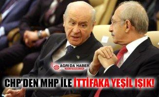 CHP'den MHP İle İttifaka Yeşil Işık!