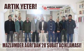 """Mazlumder Ağrı: """"28 Şubat mağdurları Derhal Serbest Bırakılsın"""""""