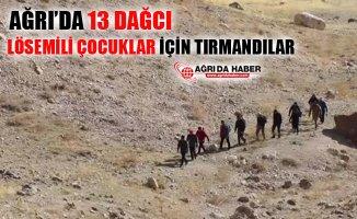 Ağrı'da 13 Dağcı Lösemili Çocuklar İçin Farkındalık Amacıyla Dağa Tırmandılar