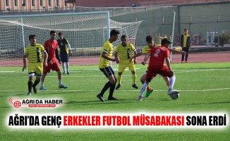 Ağrı'da Genç Erkekler Futbol İl Birinciliği Müsabakaları Sona Erdi
