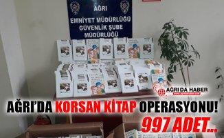 Ağrı'da Korsan Kitap Operasyonu! 997 Adet Korsan Kitap Ele Geçirildi