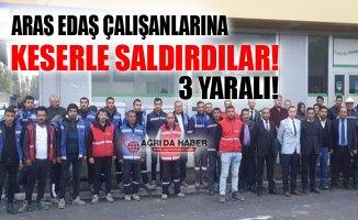 Ağrı Patnos'ta Aras Edaş Çalışanlarına Keserli Saldırı
