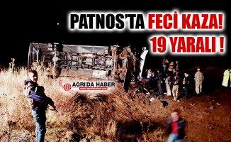 Ağrı Patnos'ta Yolcu Otobüsü Devrildi! 19 Yaralı