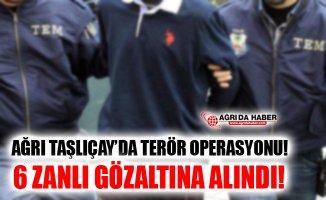 Ağrı Taşlıçay'da Terör Opersayonu! 6 Zanlı Gözaltına Alındı