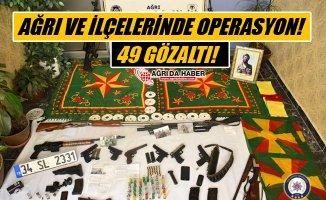 Ağrı ve İlçelerinde PKK/KCK Operasyonu! 49 Kişi Gözaltında!