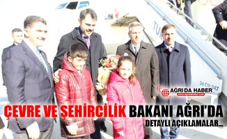 Çevre ve Şehircilik Bakanı Murat Kurum Ağrı'da