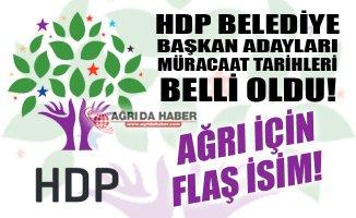 HDP Belediye Başkan Adaylığı Müracaat Tarihleri Açıklandı! Ağrı İçin Flaş İsim!