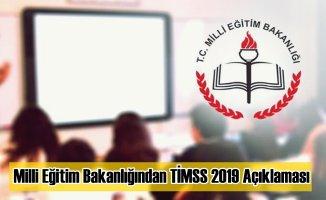 Milli Eğitim Bakanlığından TİMSS 2019 Açıklaması